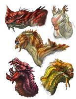 Dragon-heads by Onikaizer