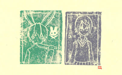 Ink Pressing - Kami and Demi by FlowingFlow