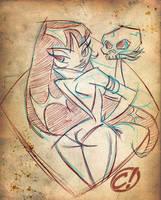 Another Vampi Sketch by CHUCKAMOKK
