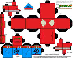 Scarlet Spider cubeecraft by MysterMDD