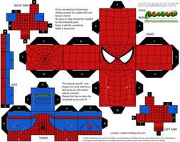 Hex-free Spider-man cubee by MysterMDD