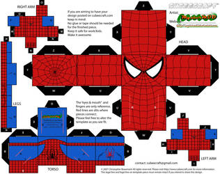 Hex-free Spider-man cubee by MysterMDD