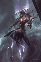Hasmed, Angel of Annihilation by PeteMohrbacher