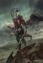 Simikiel, Angel of Vengeance by PeteMohrbacher