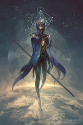 Eistibus, Angel of Divination by PeteMohrbacher