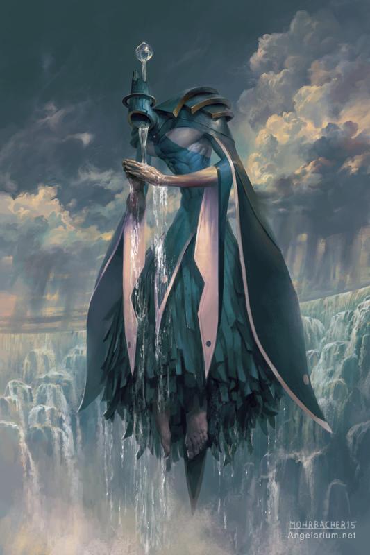 Matariel, Angel of Rain by PeteMohrbacher