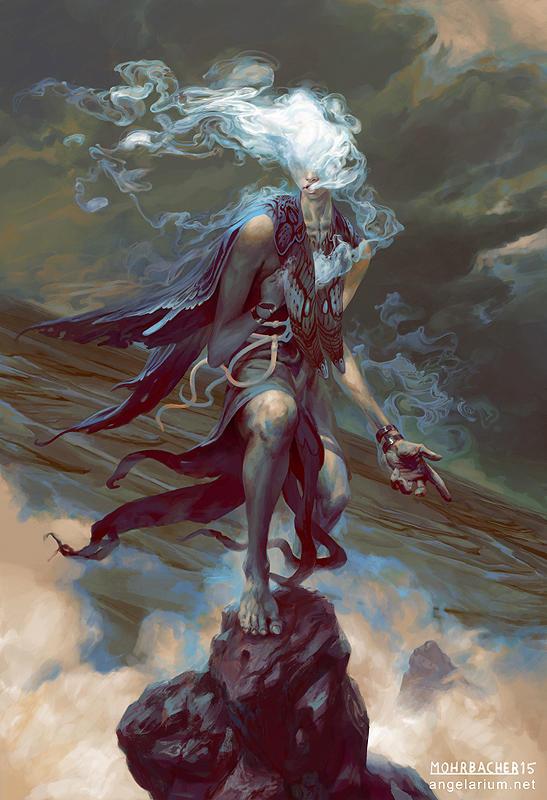 Sathariel, Angel of Deception by PeteMohrbacher