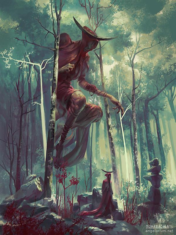 Bezaliel, Angel of Shadow by PeteMohrbacher