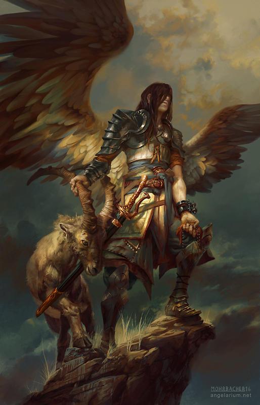 Azazel, Angel of Sacrifices by PeteMohrbacher