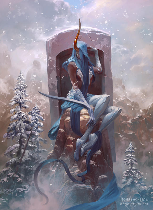 Shateiel, Angel of Silence by PeteMohrbacher