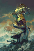 Ambriel, Angel of Gemini by PeteMohrbacher