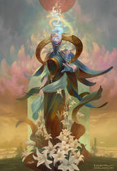 Cambiel, Angel of Aquarius by PeteMohrbacher