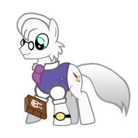 Dr Wolf as a pony by MotownWarrior01