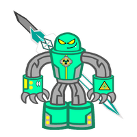 Gammatron in his Mech Armor by MotownWarrior01