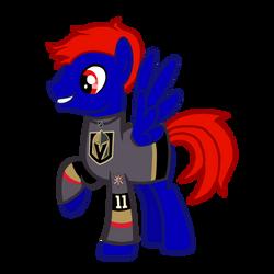 Titan Rider in his Vegas Golden Knights jersey by MotownWarrior01