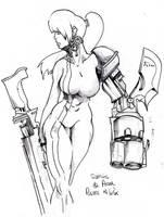 Samus Aran Battle Armor by Chaosty