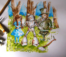 Wizard of Oz Repairing Tin Woodman by Chaosty