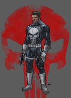 The Punisher color by SpideyCreed