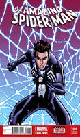 Peter Parker Black suit comission : Color ! by SpideyCreed