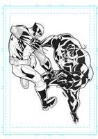 Wolverine vs Venom commission by SpideyCreed