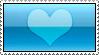 Aqua Heart Stamp by AHMED-ART