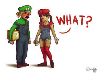 Faberry Halloween Mario and Luigi by patronustrip