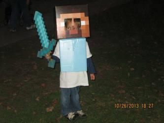 Minecraft Steve Halloween Costume by MermaidsNLattes