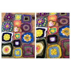 Crochet Squares by MermaidsNLattes
