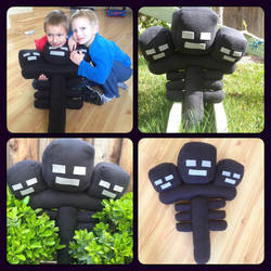 Minecraft Wither Plushie! by MermaidsNLattes