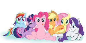 The Mane 6 are Watching You by MasterCheefs