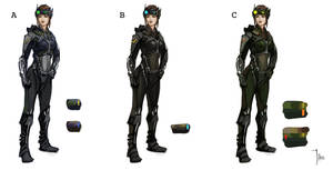 Color Sketches Sci Fi Pilot by LeeJJ