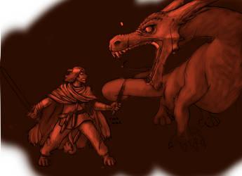 WIP - Duvalin dragon by AmethystLion
