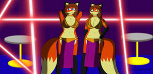 Lounge dancer sisters by Foxtrot-Nation