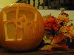 Stalker Cat Tribute Pumpkin by Wela-Inomae