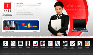 iBall Website by nirajb