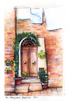 Doorway in San Gimignano, Italy by disco-mouse
