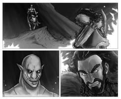 Thorin vs Azog by pyrasterran
