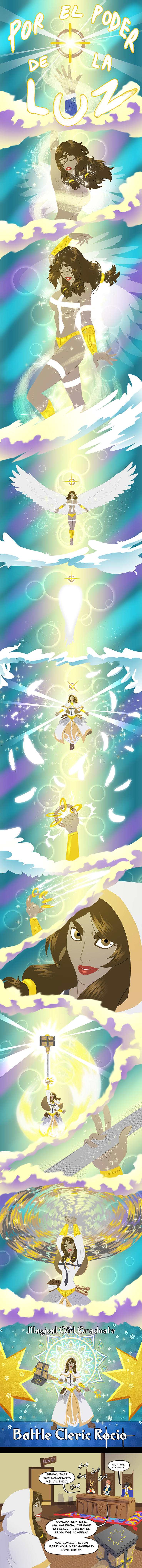 Rocio - Intro Page 1 - Magical Girl Transformation by pyrasterran