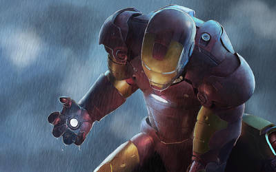 Iron man 3 painting by DrawingTheFamous