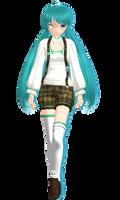 Michi's Animasa Miku (Alternative Costume 1) by XxXSickHeartKunXxX