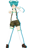 Michi's Animasa Miku (Alternative Costume 2) by XxXSickHeartKunXxX