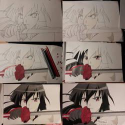 Akame progress by M0nstac00kie