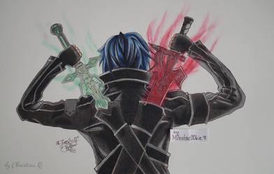 Kirito - Sword Art Online by M0nstac00kie