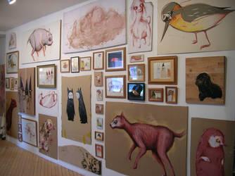 Wurm show , wall by StefanThompson