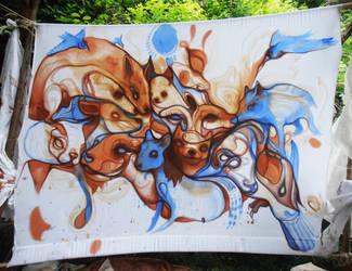 Live painting @ newartfest ottawa by StefanThompson