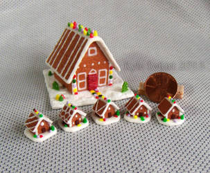 One Inch and Quarter Scale Gingerbread Houses by Kyle-Lefort