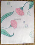Thank You Flowers - Haiku Letter Drawing by Kyle-Lefort