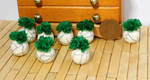 Miniature Leafy Green Plants in Planters by Kyle-Lefort