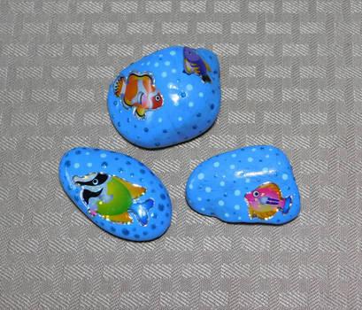 Fish Sticker Rocks by Kyle-Lefort
