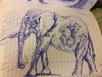 Elephant geometric by Andres256